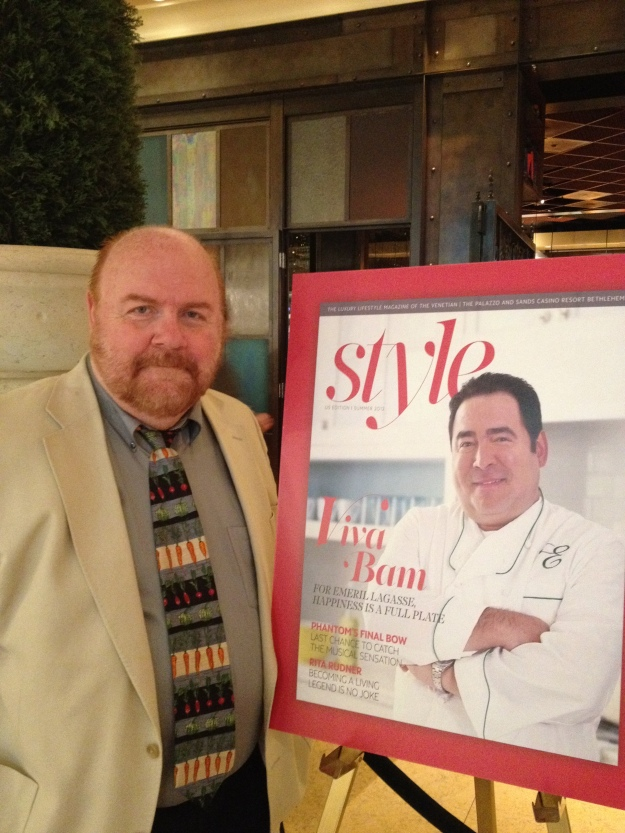 The cover, larger than life. The pic of Emeril, not so much.