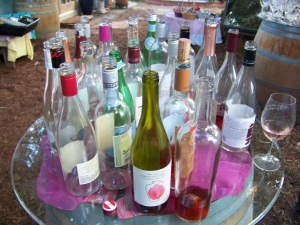 A few of the 84 bottles that were consumed at the 2013 Tournament of Rosés.