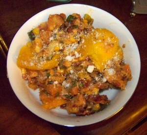 A little Cotija, and now the stuffed pumpkin is ready to return the favour and stuff you.