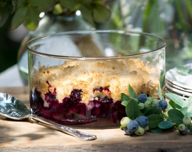 Blueberry Crisp with Almond Streusel. (photo by Renée Anjanette, courtesy Gwen Rogers)