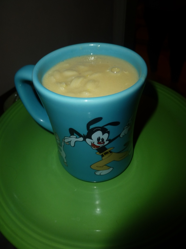 Yakko digs Greek soup.
