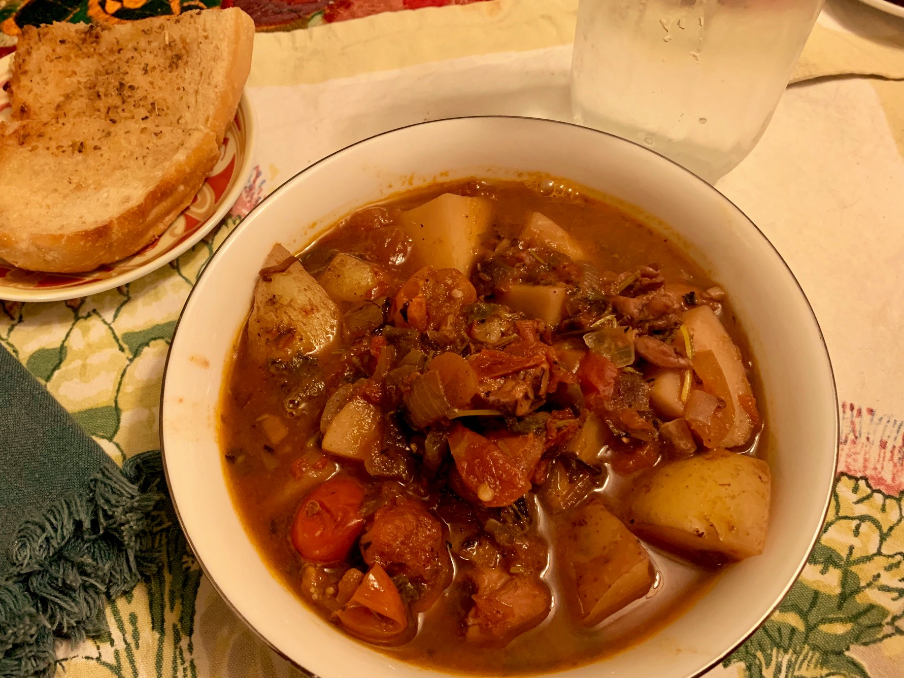 Portuguese Octopus Stew Completed